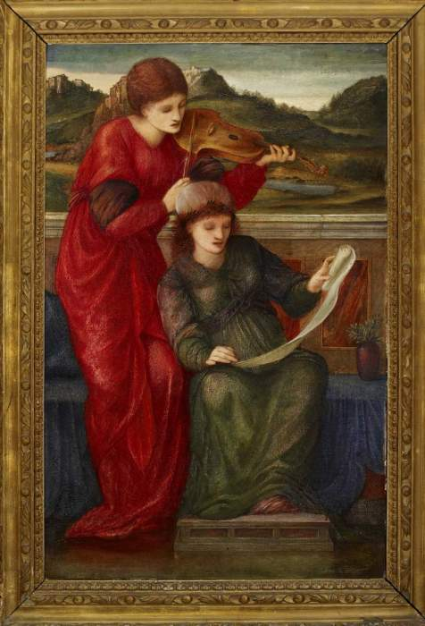 Edward Burne-Jones, «Musica», 1877, olio su tela, 67,7x43,5 cm. Oxford, The Ashmolean Museum