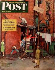 La copertina illustrata da Rockwell di «The Saturday Evening Post» del 26 maggio 1945