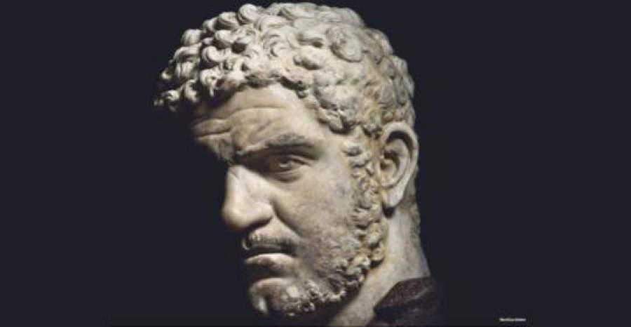 Ritratto di caracalla 215-217 d.c., marmo. roma, musei capitolini