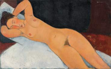 Amedeo Modigliani Nudo, 1917 Olio su tela, cm 73 x 116,7 New York, Solomon R. Guggenheim Museum, Solomon R. Guggenheim Founding Collection