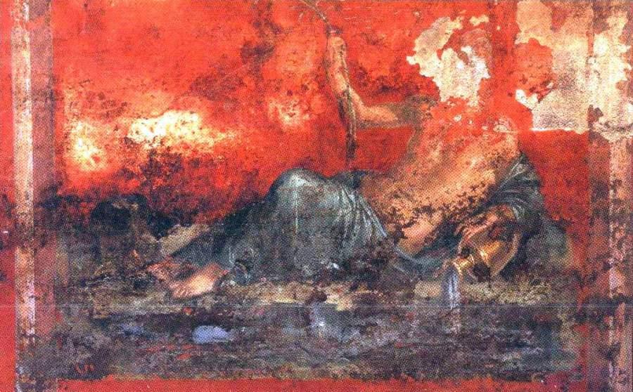 Pareti Colorate Rosso Pompeiano: LA VILLA DI OPLONTI o POPPEA u2013 Cose di Napoli.