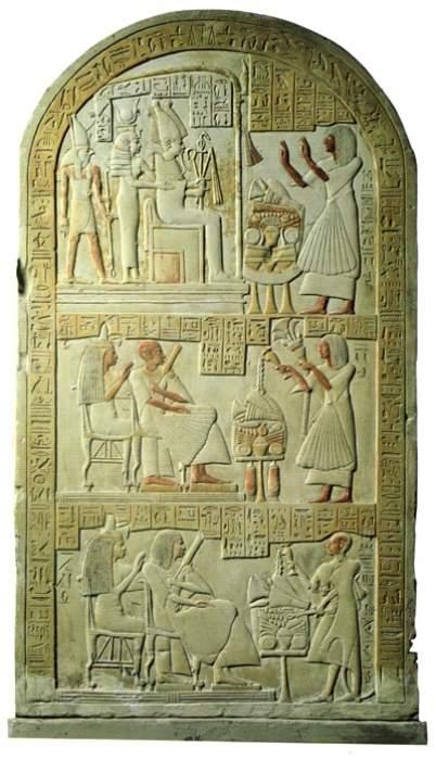 Stele Egizia Del Museo Di Napoli
