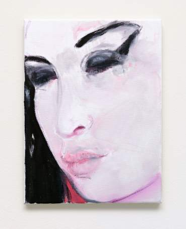 Marlene Dumas, «Amy-Pink», 2011. Olio su tela, 40x30 cm_courtesy the artist and Frith Street Gallery, Londra, ph. ©Alex Delfanne