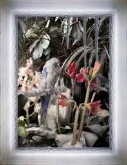 "Mat Collishaw ""The Crystal Gaze N. 4"" 2012 - stampa fotografica tridimensionale, spy glass, luci  led, cornice in resina - 66x85,5 cm C.sy Raucci/Santamaria Gallery Naples - Foto E. Velo"