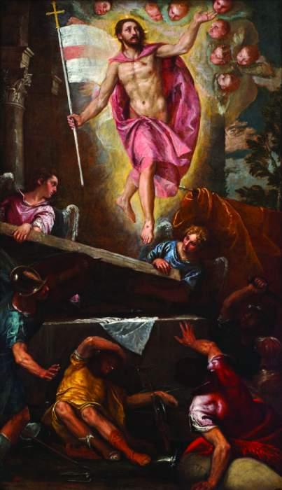 Paolo Veronese, «La resurrezione di Cristo», 1580 ca, Londra, Chelsea and Westminster Hospital dans immagini sacre