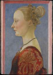 Uno dei quattro celebri «Ritratto di donna di profilo» di Piero del Pollaiolo.© New York, The Metropolitan Museum of Art, Bequest of Edward Harkness, 1940