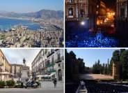 Un collage di immagini di Palermo scelte per pubblicizzare Manifesta 12