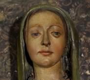 Un particolare del volto della Madonna di Ganghereto
