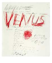 Cy Twombly «Venus» © Cy Twombly Foundation, courtesy Archives Nicola Del Roscio © Mimmo Capone.
