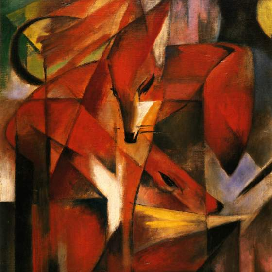 Franz Marc, «Füchse» (part.), 1913