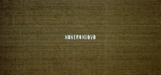 Fabio Mauri, «Non ero nuovo», 2009. Taglio su zerbino 200 x 420 x 1.9 cm. Courtesy the Estate of Fabio Mauri and Hauser&Wirth