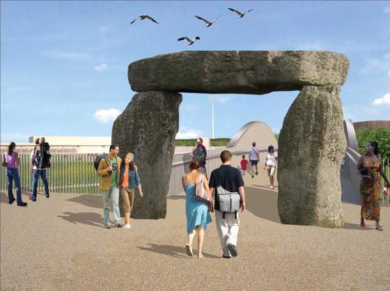 «Proposal for the Olympic Park Gateways» (2012) di Jeremy Deller