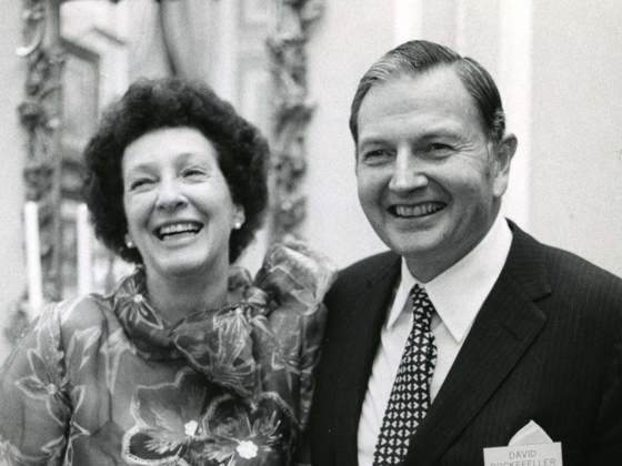 Peggy e David Rockefeller nel 1973.  Courtesy of the Rockefeller Archive Centre