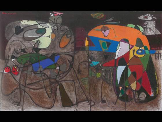 «Jeux nocturne (recto) (Night Games)», 1940, di Asger Jorn, Canica Art Collection/ SMK Copenaghen © VG Bild Kunst