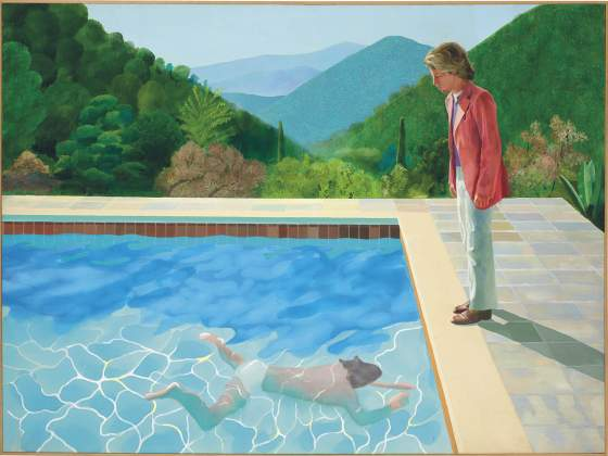 «Portrait of the artist (Pool with two figures)», di David Hockney. © 2018 Christie's Images Ltd