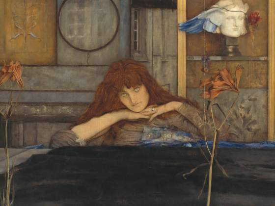 «I Lock My Door Upon Myself» di Fernand Khnopff. ©  BPK, Berlin, Dist.RMN-Grand Palais images BStGS