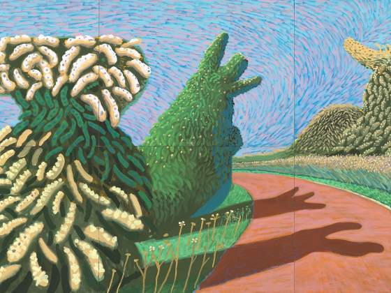 «May Blossom on the Roman Road» (2009) di David Hockney (particolare). © David Hockney. Foto: Richard Schmidt