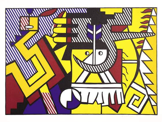 «American Indian Theme VI», 1980, di Roy Lichtenstein