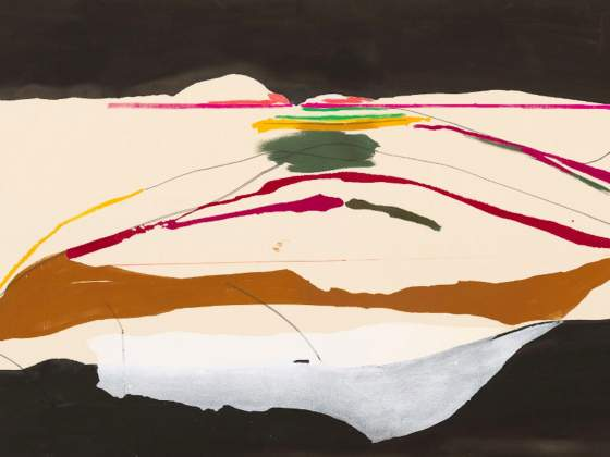 «New Paths» (1973) di Helen Frankenthaler (particolare). © 2019 Helen Frankenthaler Foundation, Inc. / Artists Rights Society (ARS), New York. Fotografia di Rob McKeever, cortesia di Gagosian