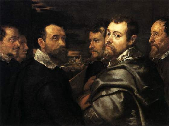 «Autoritratto in un circolo di amici di Mantova» di Rubens, Colonia, Wallraf-Richartz-Museum