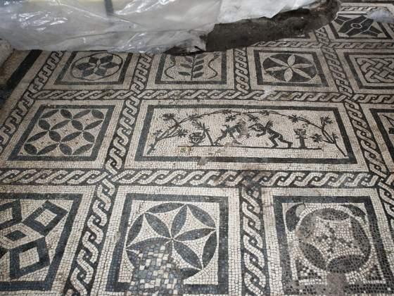 I mosaici della Caserma del II secolo d.C rinvenuti durante gli scavi per la stazione Amba Aradam della metro C