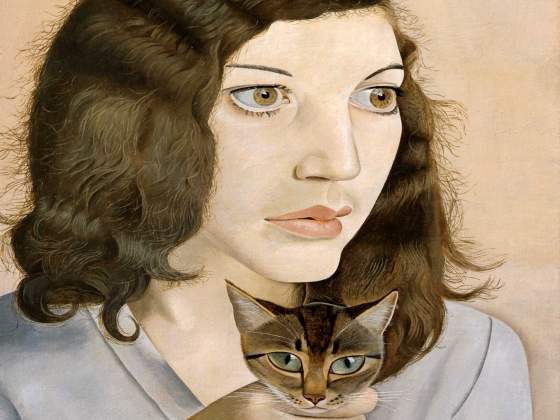 «Girl with a Kitten» (1947) di Lucian Freud (particolare). © Galleria Lorcan O'Neill