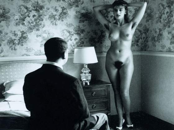 «In my Hotel Room, Montecatini» di Helmut Newton, 1988