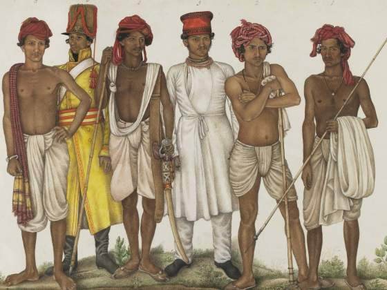«Six Recruits» (1815 ca) di Ghulam Ali Khan, Washington, Freer Gallery of Art & Arthur M. Sackler Gallery | Freer Gallery of Art and Arthur M Sackler Gallery [Smithsonian Institution]