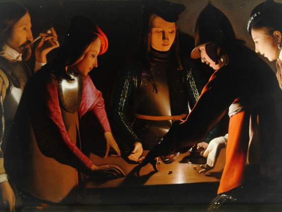 «I giocatori di dadi» (1650-51) di Georges de La Tour, Preston Park Museum and Grounds Stockton-on-Tees UK