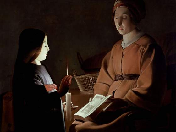 «Educazione della Vergine», bottega di Georges de la Tour, 1650 ca, The Frick Collection, New York