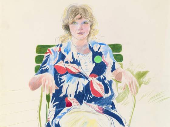«Celia Caerennac, August 1971», di David Hockney (particolare)