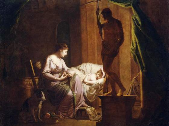 Joseph Wright of Derby, «Penelope disfa la sua tela alla luce di una candela», 1783. J. Paul Getty Museum, Los Angeles