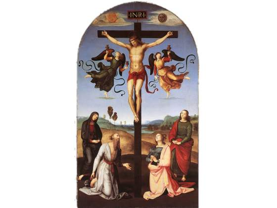 «Crocifissione Gavari» di Raffaello, Londra, National Gallery