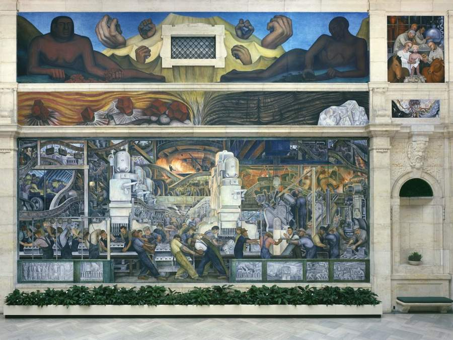 Diego Rivera, «Detroit Industry Murales», Detroit Institute of Arts, dono di Edsel B. Ford (parete nord)
