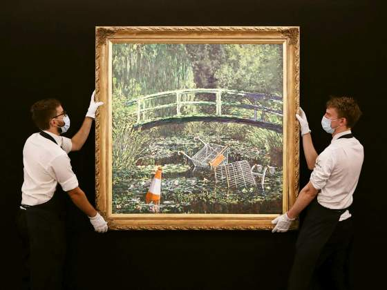 «Show me the Monet», di Banksy. © Sotheby's