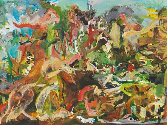 «The Calls of the Hunting Horn» (2019), di Cecily Brown