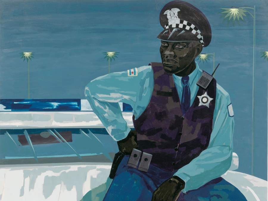 «Untitled (policeman)» (2015) di Kerry James Marshall. © Kerry James Marshall. Cortesia dell'artista e Jack Shainman Gallery, New York