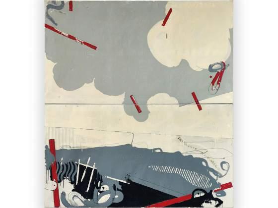 Mario Schifano, «Paysage anémique I», 1964, crayon et émail sur toile 644 milliers d'euros