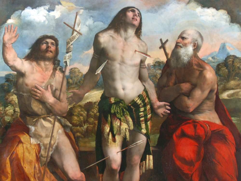 La Pala di san Sebastiano di Dosso Dossi (particolare)